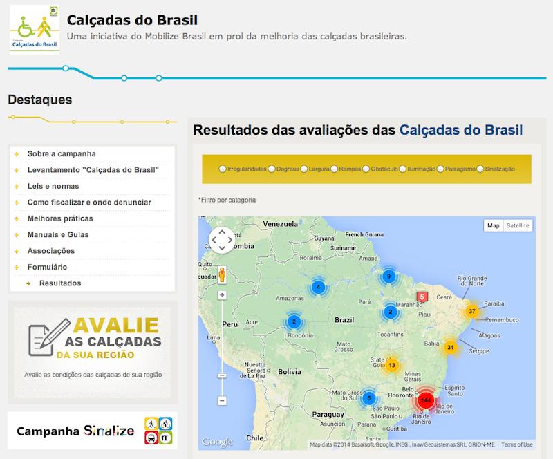 Calçadas do Brasil no Mobilize
