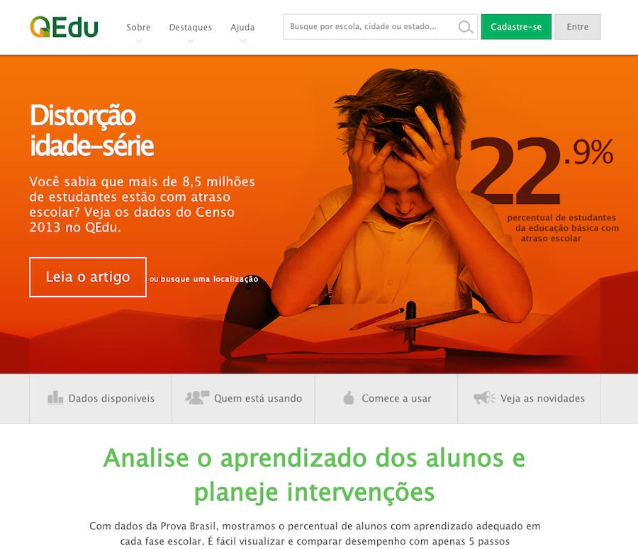Página inicial do QEdu