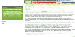 Notícia no site da AMA divulgando Cidadania 2.0 2014