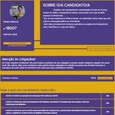 #MeRepresenta - Informação sobre um candidato