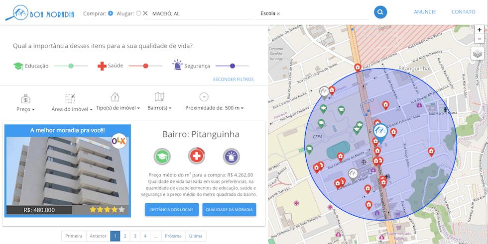 Boa Moradia - mapa de habitações