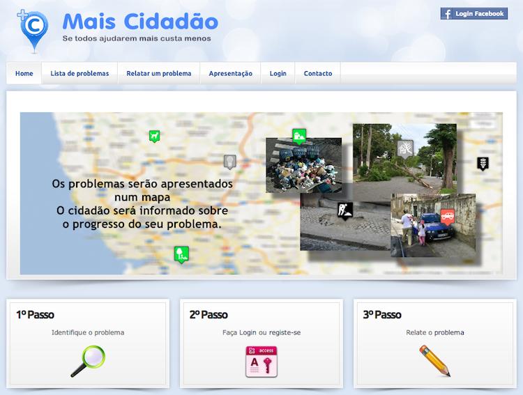 Mais Cidadão (imagem capturada a 19 Set 2013)