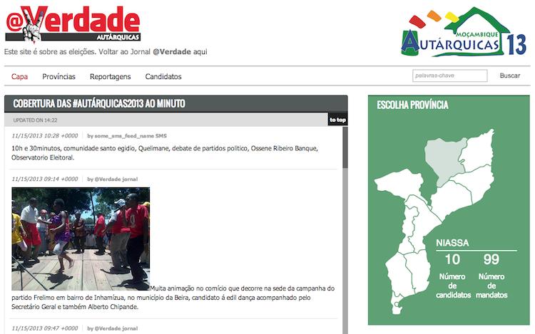 Acompanhamento das Eleições em Moçambique