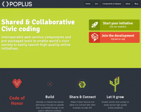 Página inicial do POPLUS