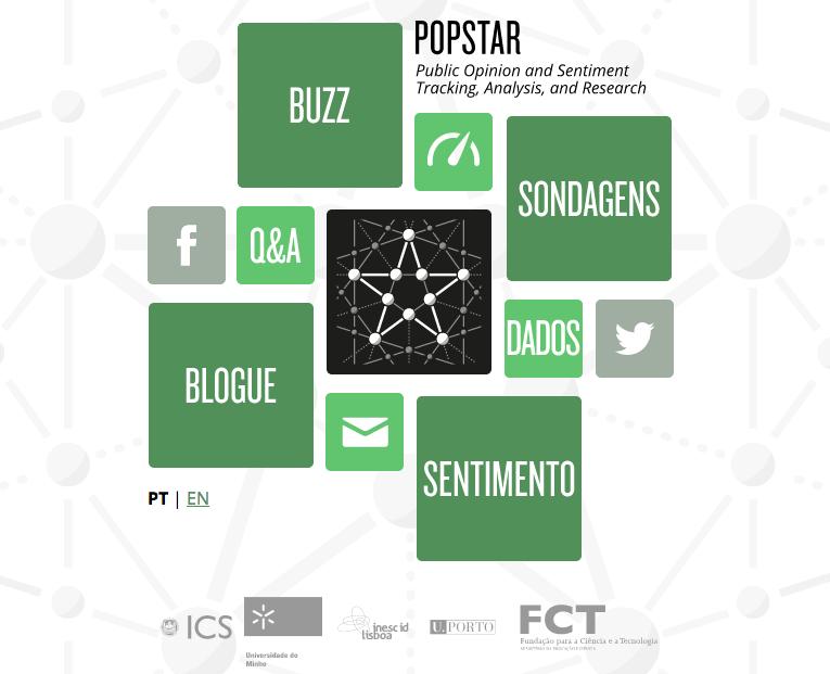 Página inicial do POPSTAR
