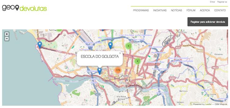 Mapeamento de edifícios devolutos no Geodevolutas