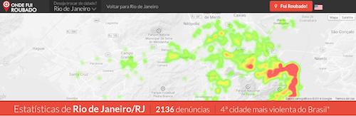 OndeFuiRoubado - Heatmap