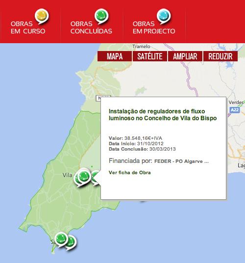 Mapa de obras públicas