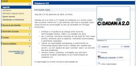 Notícia no eurocid sobre Cidadania 2.0