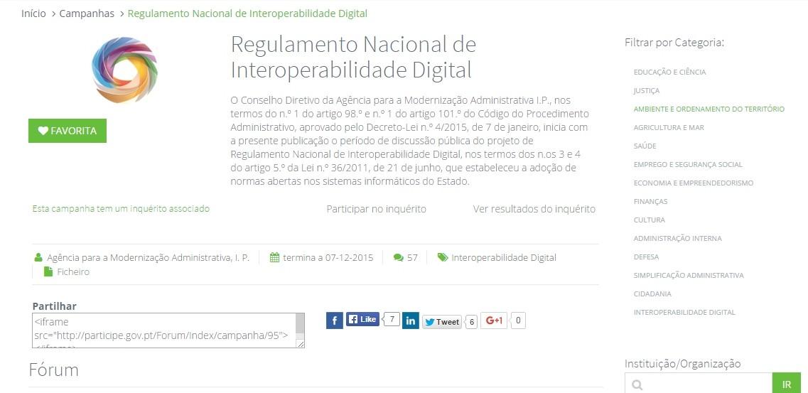 Portal de Participação Pública - Uma campanha