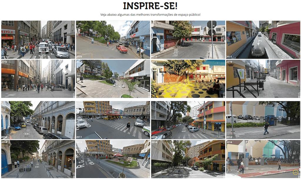 Antes Depois - exemplos de transformações urbanas
