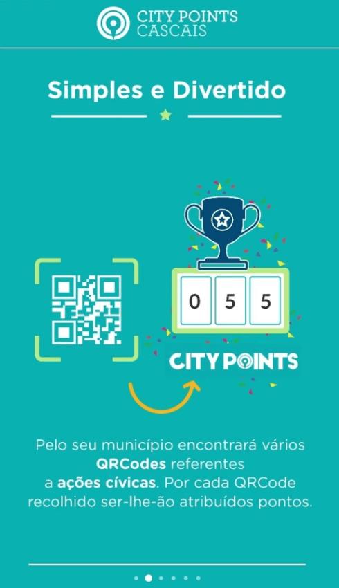 Recolha de pontos com a app CITYPOINTS Cascais