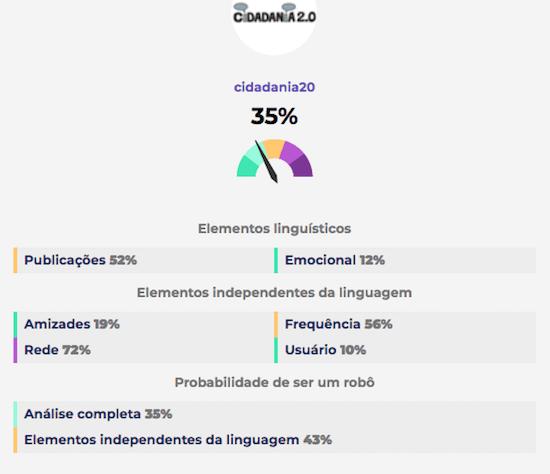 Pegabot - página de resultado