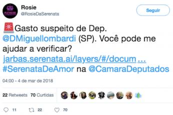 Serenata de Amor - Tweet da Rosie