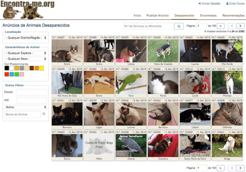 Encontra-me.org - animais desaparecidos