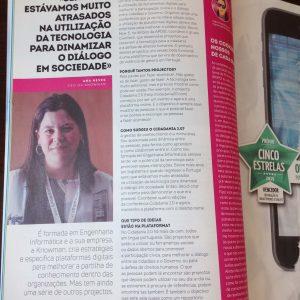 Entrevista a Ana Neves na coluna High Tech Girl da revista PC Guia (maio 2019)