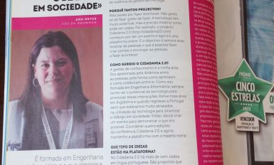 Entrevista a Ana Neves na coluna High Tech Girl da revista PC Guia (maio 2019)