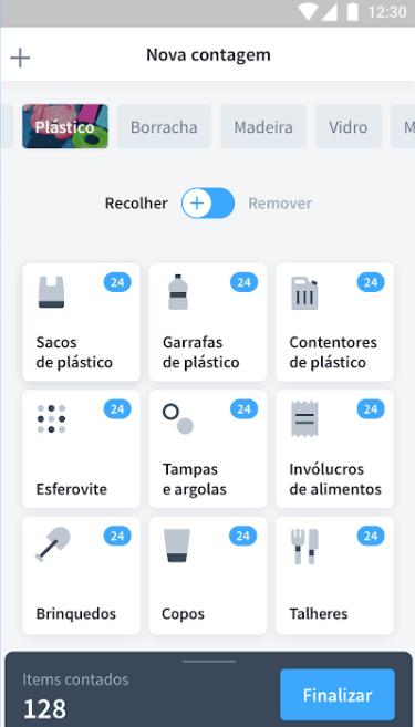 Lixo Marinho - Nova Contagem na app