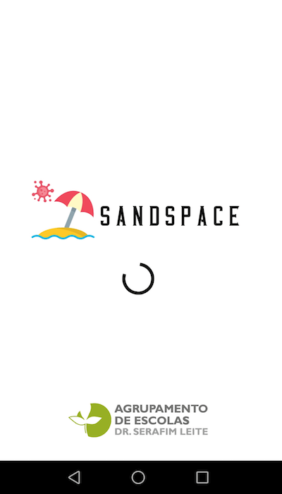 SandSpace - ecrã de início