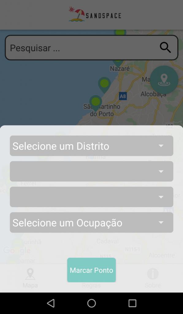 SandSpace - interface para envio de informação
